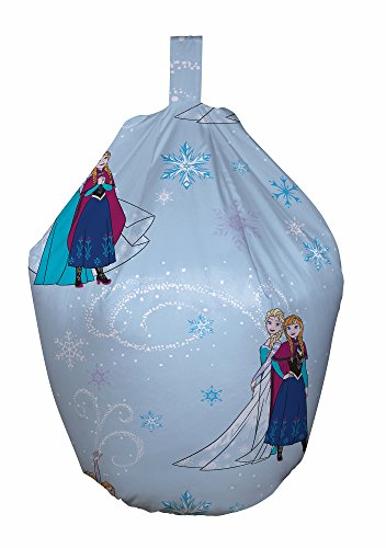 Disney Frozen Bean Bag, Stoff, Blau, 52 x 38 x 52 cm (Stoff-wohnzimmer-bean-bag)