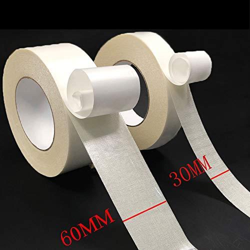 Doppelseitiges Klebeband - Tark Haftend Extra Stark Doppelseitige Klebebänder Teppichklebeband Doppelseitiges Verlegeband für Teppich Funktioniert auf Alle Boden 30MM und 60MM x 25M 2pcs