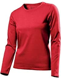 Hanes 7120 Damen ComfortSoft® T-Shirt Lange Ärmel - XXL, Rot