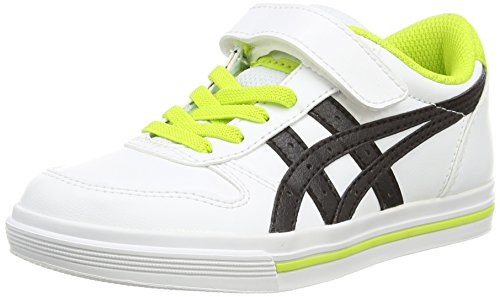Onitsuka Tiger Aaron Ps, Unisex-Kinder Low-Top Sneaker Weiß (White/Black 190)