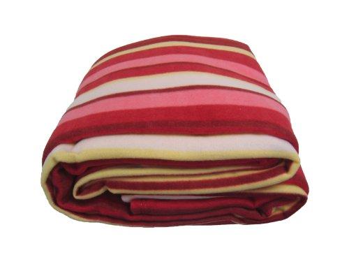 Dada Betten bl6116061gestreift Polar Fleece Decke, rot und orange, Polyester-Mischgewebe, Orange, Pink, Red, White, Volle Größe - Roten Bett Ensemble