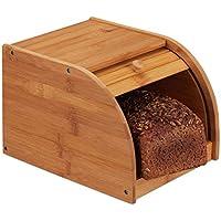 Relaxdays 10024208 – Panera (bambú, tapa frontal, enrollable, aromadichte Guardar el pan