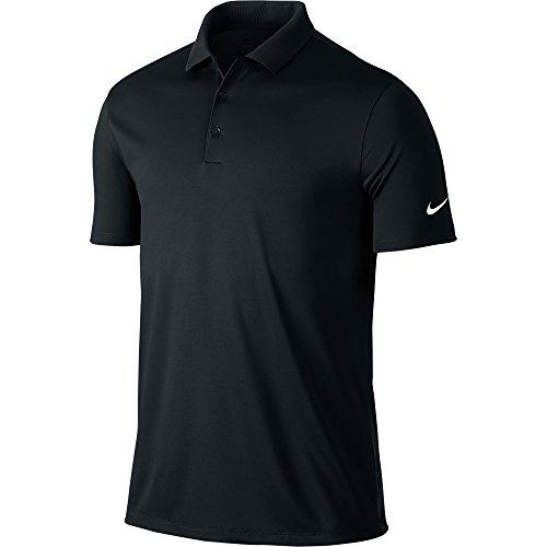 NIKE Herren Polo Hemd Victory Solid Black/White