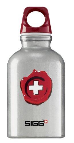 Sigg Lifestyle Loop Top Wasser Flasche (0.3-liters), Swiss Quality/Aluminum Transparent (Schweizer-wasser-flasche Aluminium)
