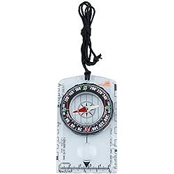 AceCamp Compass Outdoor Premium Boussole portable avec fonction, Outils de navigation pour la randonnée en camping, Transparent 3128