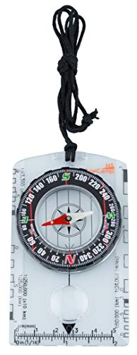 AceCamp Kompass Outdoor Premium Portable Karten-kompass mit Funktion, Navigation tools für Camping Wandern, transparent 3128