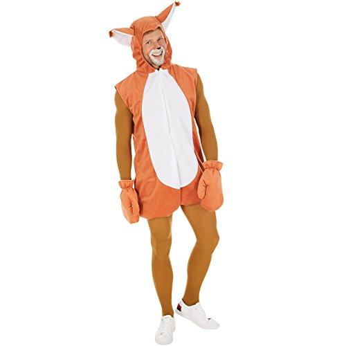 TecTake dressforfun Kostüm Eichhörnchen für Sie und Ihn | Schönes, weiches Fellimitat | Kapuze mit Ohren | inkl. Handschuhe und Ganzkörperstrumpfhose (M | Nr. 300851)