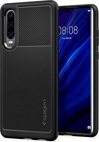 Armadura Resistente Spigen, Capa Huawei P30, Capa Fina com Proteção de Câmera e Tecnologia de Almofada de Ar para Huawei P30 - Preto Mate