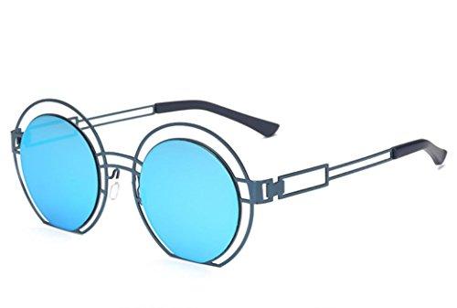 XYLUCKY Runde Vintage Spiegellinsen UV Schutz Unisex Sonnenbrillen , e