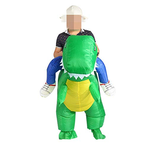 Inflatable Dinosaur Kostüm Erwachsene One Size Fancy Kleid Ride Me Kostüm Anzug Für Halloween Party Kostüm Party Cosplay