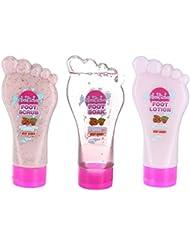 Foot Factory - Ensemble pédicure 'very berry' - Exfoliant, trempage & lotion