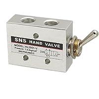 SODIAL(R)HL2501-V Valvula de interruptor de perilla de palanca de neumatica de acero al carbono