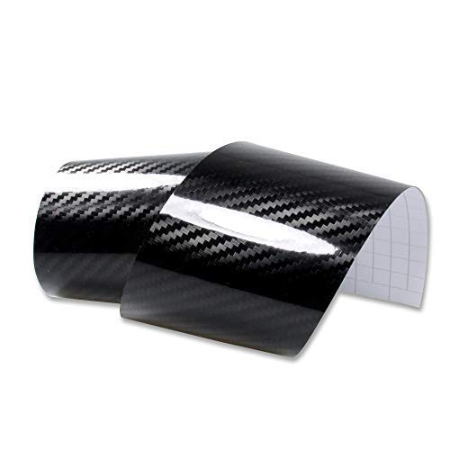 Rapid Teck® Carbon-Folie Serie 560z 5D Carbon schwarz Glanz/Hochglanz Autofolie selbstklebend Luftkanal