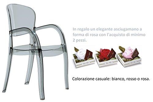 Gbshop sedia poltrona in policarbonato trasparente ordine minimo 2