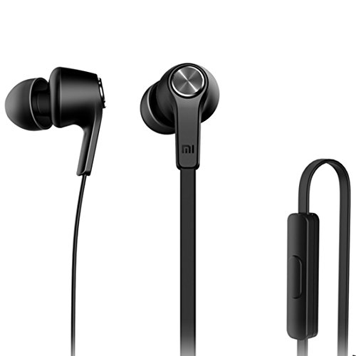 Price comparison product image Fone-Stuff In-Ear Headphones Earphones with Stereo Mic and Remote Volume Control,  Superior Surround Sound Earbuds,  Metal Head Round Wired Hands-free,  Sound Play `N' Pause Button,  Black by Xiaomi®