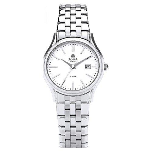 Royal London 21187-01 - Reloj para mujeres, correa de acero inoxidable color plateado
