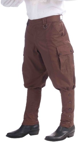 Forum Steampunk Victorian Riding Brown Pants One Size