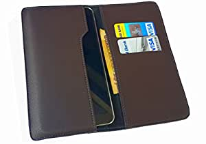 nKarta ™ OD Choclate Brown Flip Flap Wallet Pouch Mobile Cover Case with Card holder Slots for Vodafone Smart 4G