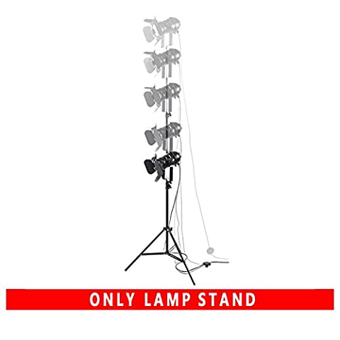 OYGROUP All Black Lamp Stand with UP or Down Adjustable Gooseneck Metal Tripod base Stable and Reliable Light Pole