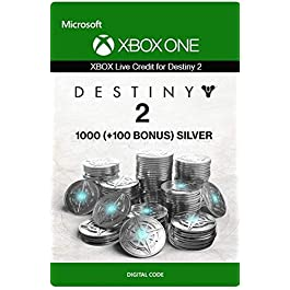 Xbox Live Carta Regalo per Monete d'argento di Destiny 2: 1000 (+100 Bonus) Xbox One/Windows 10 PC – Codice download