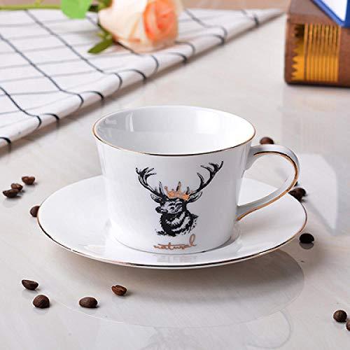 ycmjh Einfache Kaffeetasse European Creative Style British Blue Zebra WeihnachtenOriental Horse Nachmittagstee-Set 10