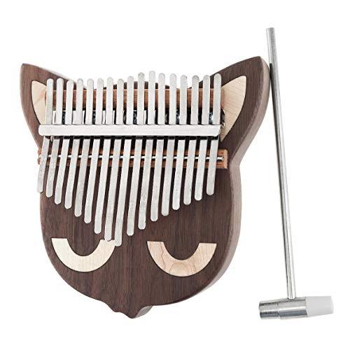 Piano de pulgar de madera de 17 teclas