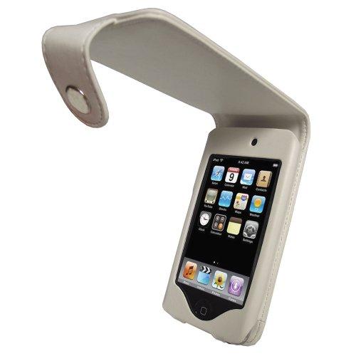 iGadgitz Schutzhülle aus Leder für Apple iPod Touch 2G / 3G, mit Gürtelclip, Weiß - Ipod Generation 1. 8gb Touch