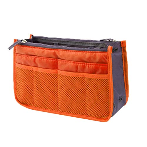 GreatWall Weibliche Tote Organizer Insert Bag Frauen Travel Insert Organizer Handtasche Orange -