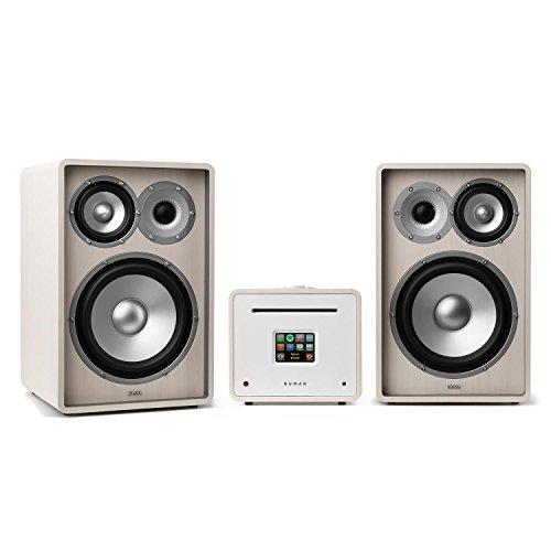 NUMAN Unison Retrospective 1978 MKII • Stereoanlage • Verstärker • Lautsprecher • 2 x 40 W • UNDOK-App • Spotify-Connect • WLAN • DAB+ • UKW • Bluetooth • TFT-Display • vergoldete Kontakte • weiß