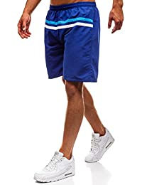 LSEREVER Pantalones Cortos Deportivos Casuales De Multicolor De Playa Con Cinta y Forro