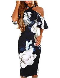 Trada Vestito da Festa Casual Vestito da Donna Elegante Donne Stampato  Floreale Manica Corta V 38577a89c71