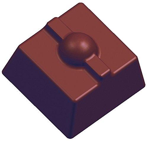Moule à Chocolat Professionnel en Silicone, Polycarbonate Transparent, 27,5 x 13,5 x 2,4 cm, pour 21 pièces