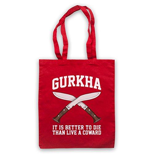 Motto Gurkha È Meglio Morire Che Vivere Un Vigliacco Umhangetaschen Marciume