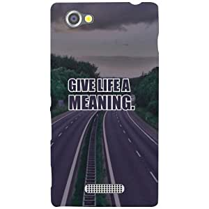 Sony Xperia M Phone Cover - Give Life a Meaning Matte Finish Phone Cover