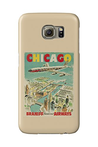 Braniff International Airways - Chicago Vintage Poster c. 1950 (Galaxy S6 Cell Phone Case, Slim Barely There)