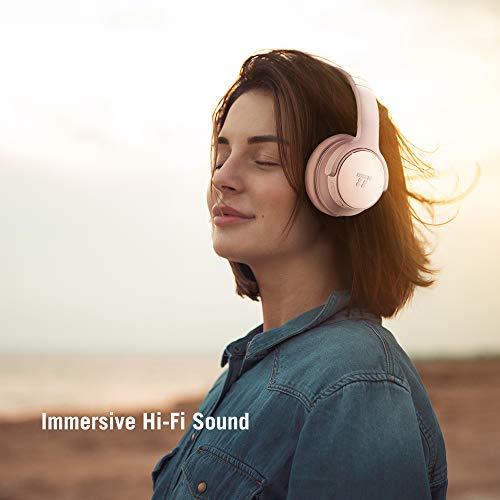TaoTronics Active Noise Cancelling Kopfhörer 30 Stunden Bluetooth Kopfhörer, Kabelloses ohrumschließendes Headset, dualen 40 mm Treibern Kabellos Kopfhörer mit Tiefem Bass und Mikrofon - 6