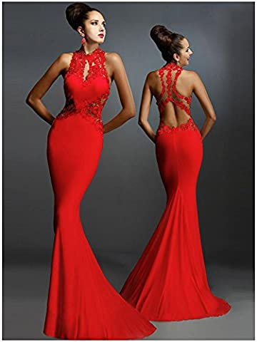 YLSZ-Evening Dress Circle sleeveless package and dresses,Xl Red