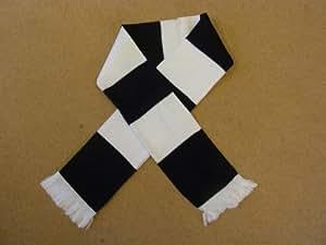 Corby Town Noir et Blanc écharpe de bar rétro