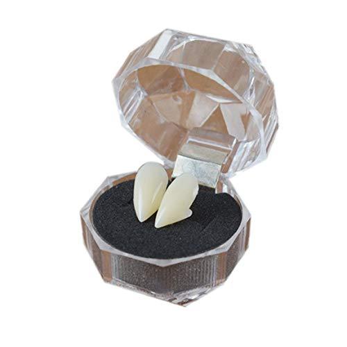 1 Paar Verkleiden Zubehör Vampirzähne Zähne Mit Adhesive Halloween-Partei Cosplay Props Weißen Horror Falscher Zähne Props Für Partei-Bevorzugungen