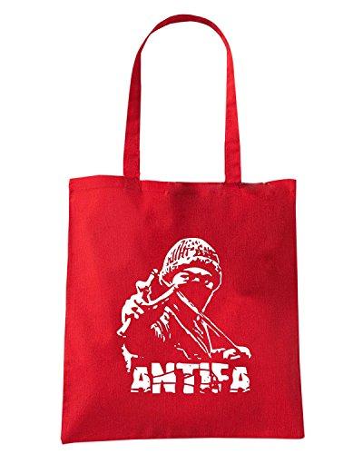 T-Shirtshock - Borsa Shopping T0786 antifa politica Rosso
