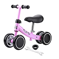 SKIESOAR Baby Balance Bike No Pedal Baby Car Ride on Toy for 1-3 Years Old Children Walker Ages 12-36 Months Durable Toddler Tricycle Infant First Birthday Gift Indoor Outdoor
