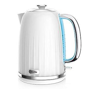 Breville Impressions Electric Kettle, 1.7 Litre, 3 KW Fast Boil, White [VKJ378]