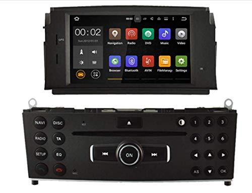 Sunshine Fly 7 Zoll Android 8.0 Quad core 1024 * 600 Kapazitiver Touchscreen DVD Navi Autoradio GPS Stereo Für Mercedes Benz C200 C180 W204 2007-2010 Audio Player Bluetooth FM AM Hotspot WiFi 3G SWC