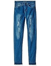 Kensie Girls' Blast Wash Skinny Fit Denim Jeans
