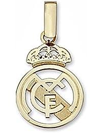 Colgante escudo Real Madrid oro de ley 18k pequeno calado [6449] - Modelo: 30-043