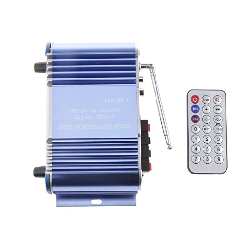 MagiDeal Hy601 2 Kanal HiFi Stereo Verstärker Bassverstärker für Auto Home Mp3