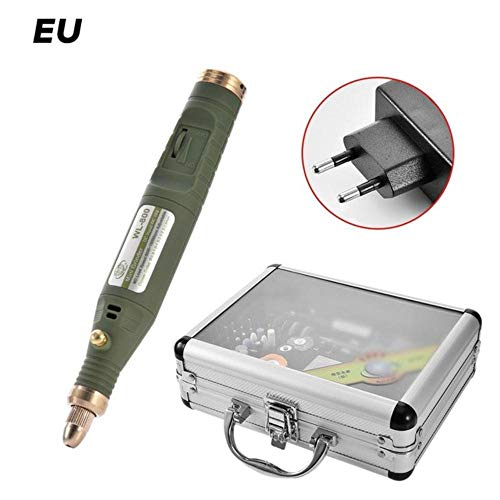 fish 80-in-1 Mini Electric Rotary Drill Grinder with Grinding Accessories Set Multi-Function Engraving Machine Power Tool Kit,EU Plug - Power Machines