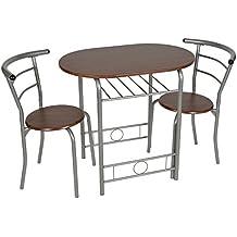 tsideen juego de comedor piezas mesa cocina sillas marco de metal fibra