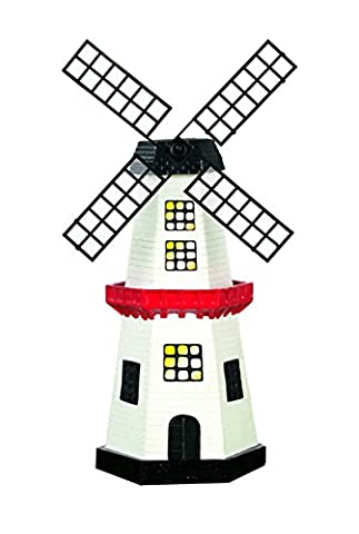 EASYmaxx 09387 Moulin à vent solaire | Pour le jardin, la terrase et le balcon | LED Polypropylène Multicolore - Vento Rilevatore