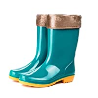 BHPL Shoes,Warm rain boots,Mid-high non-slip waterproof shoes,High-top labor insurance work shoes,36